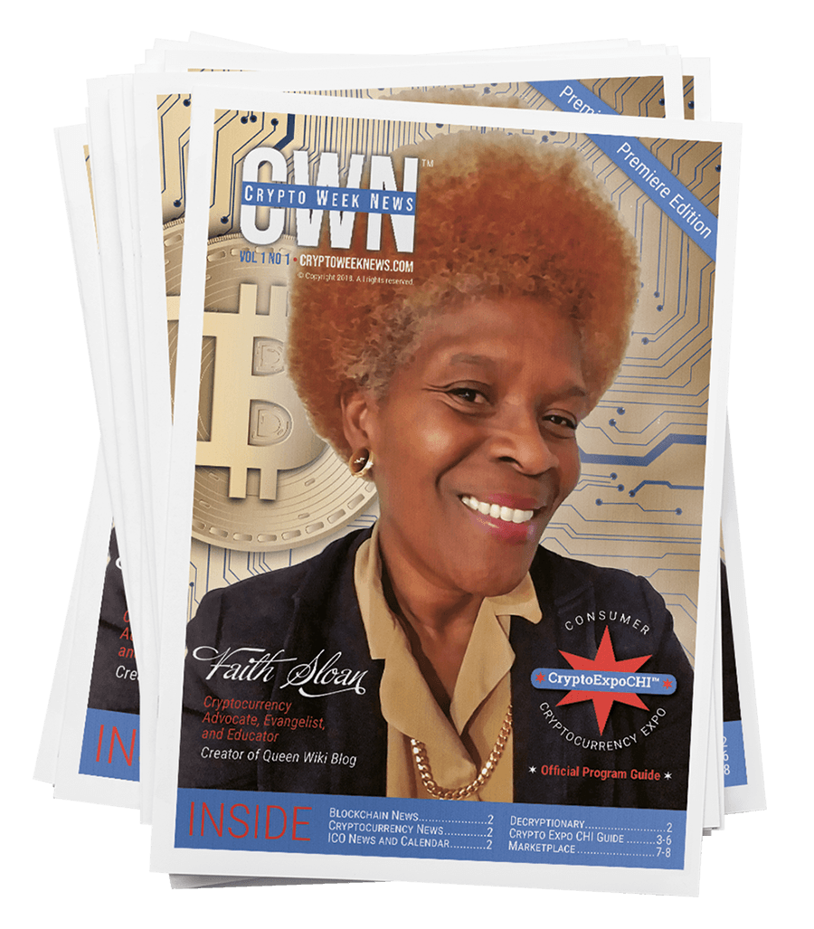 CryptoWeekNews Subscribe Today - Faith Sloan Cover